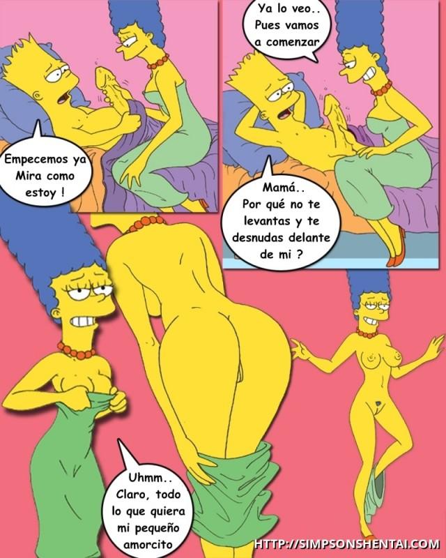 Порно симпсоны комиксы барт и мардж